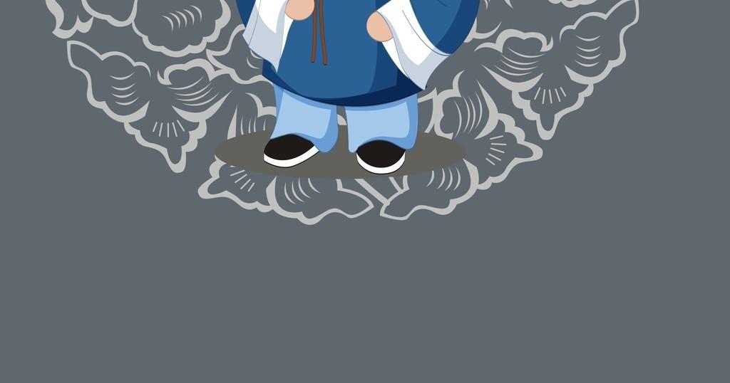 中国风素材 > 中国传统人物卡通图案手机壳图案设计  版权图片 设计师