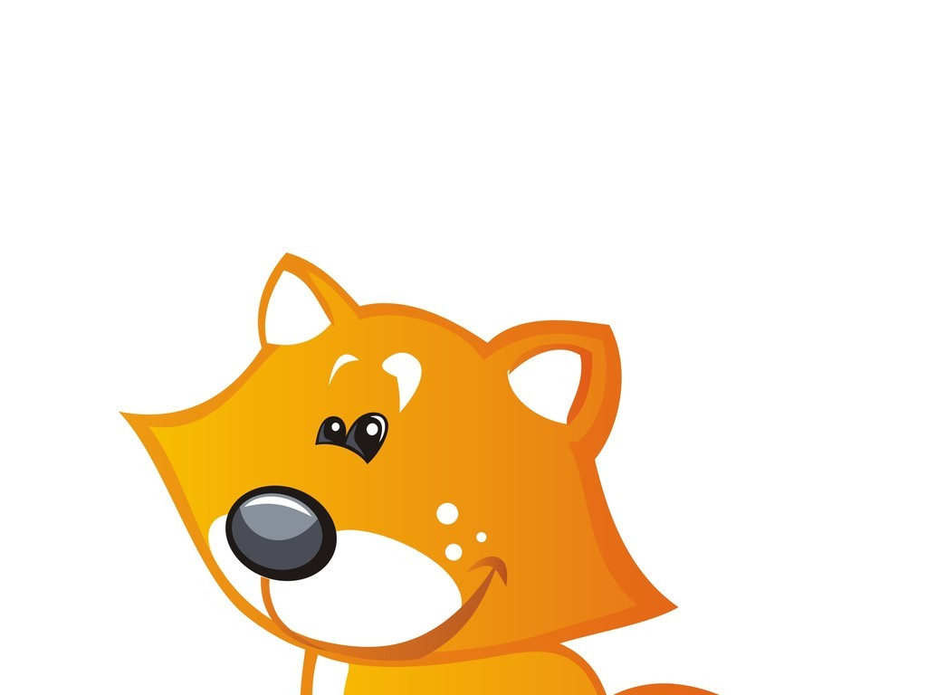卡通动物卡通图案手机壳图案设计狐狸