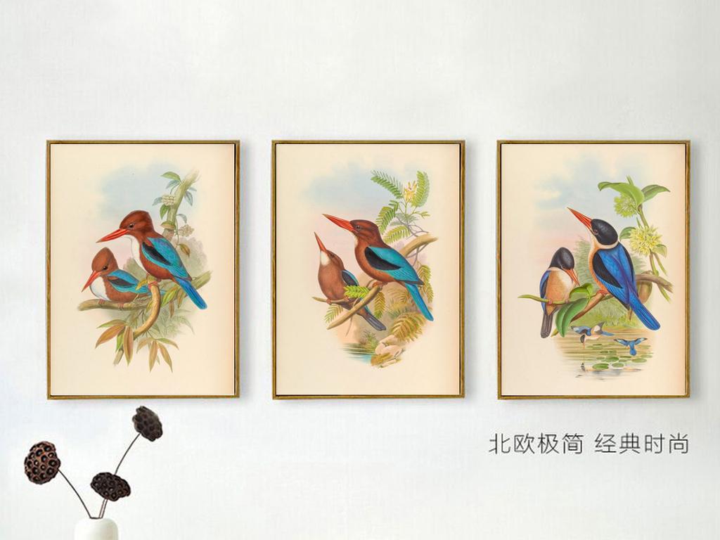 背景墙|装饰画 无框画 动物图案无框画 > 花卉田园花鸟客厅餐厅卧室
