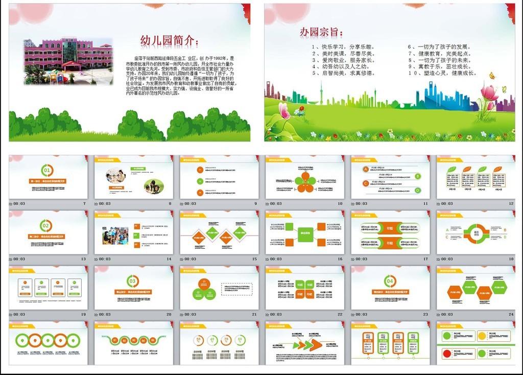 幼儿园招生宣传幼儿园简介ppt模板
