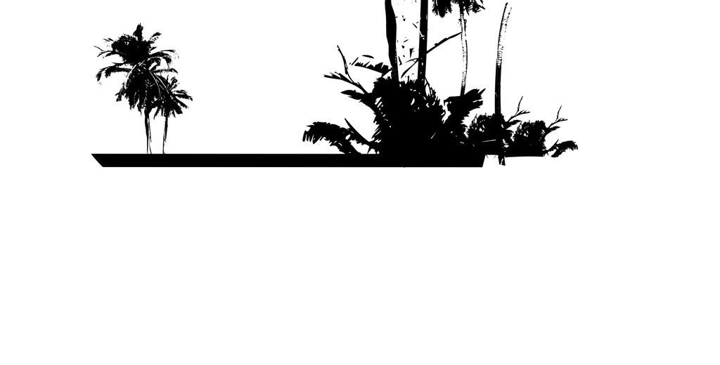 自然风景黑白手绘图片