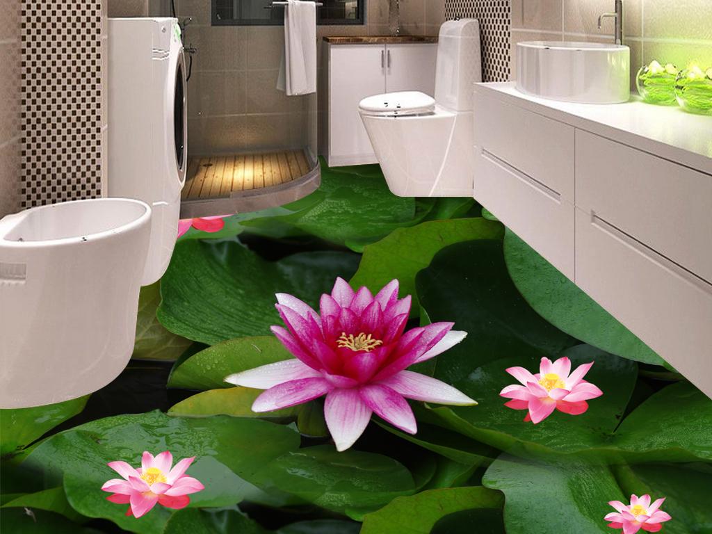 psd)3d地板3d地画3d立体画3d植物花卉地板