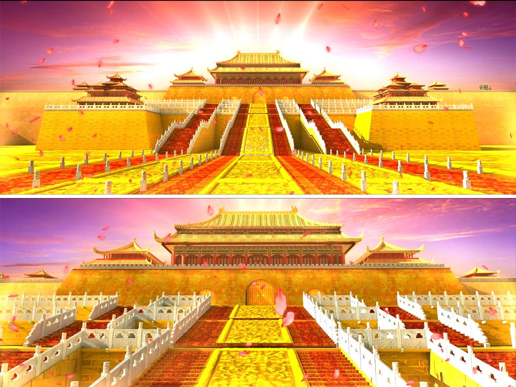 大唐宫殿皇宫歌舞背景视频图片