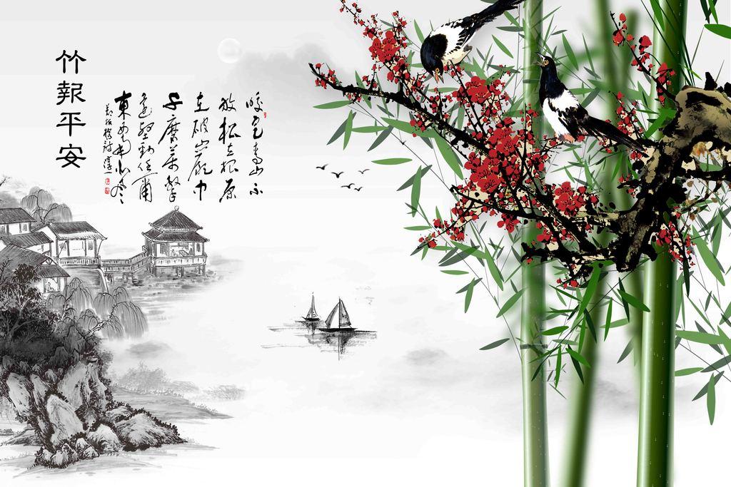 竹子手绘意境高清