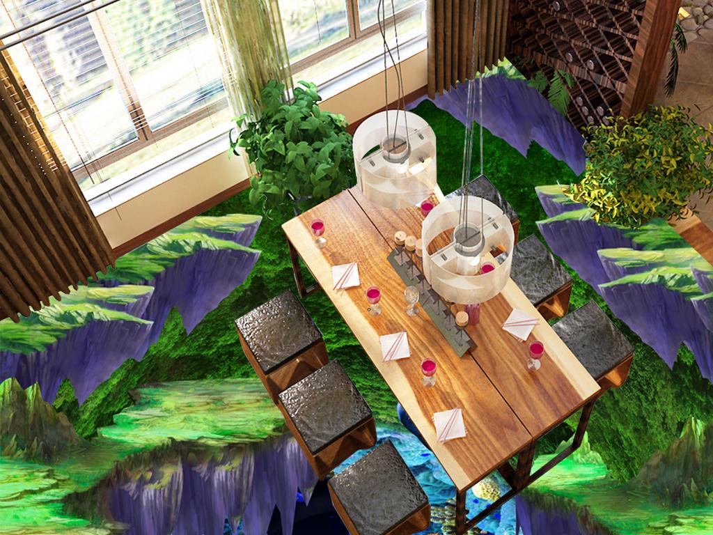 奇幻梦幻森林海底世界3D浴室厨房走道地板