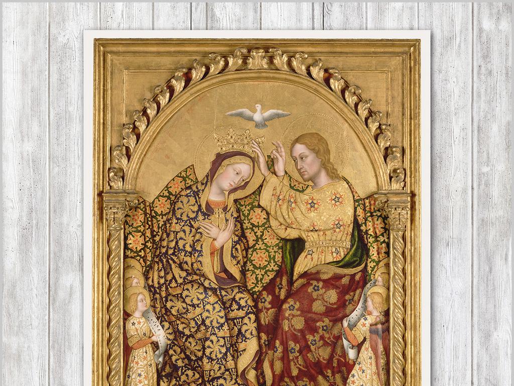 欧式复古典宫廷人物油画背景墙装饰画