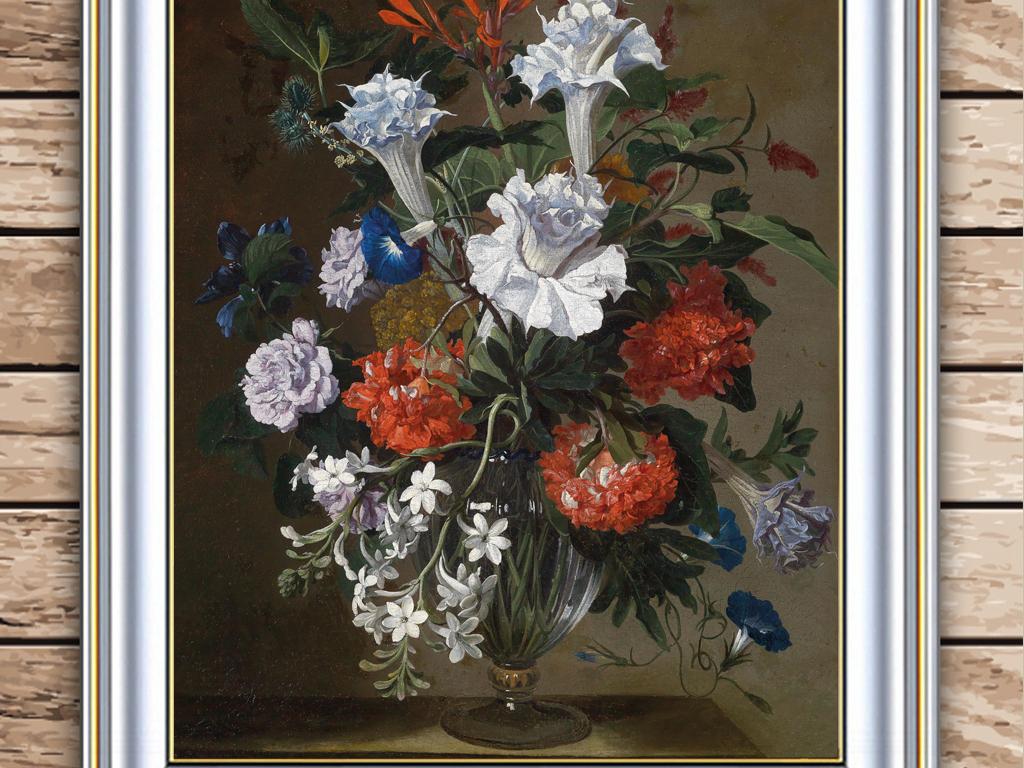 手绘装饰画背景墙壁画墙玄关油画欧式风景玄关山水北欧新古典花卉古典