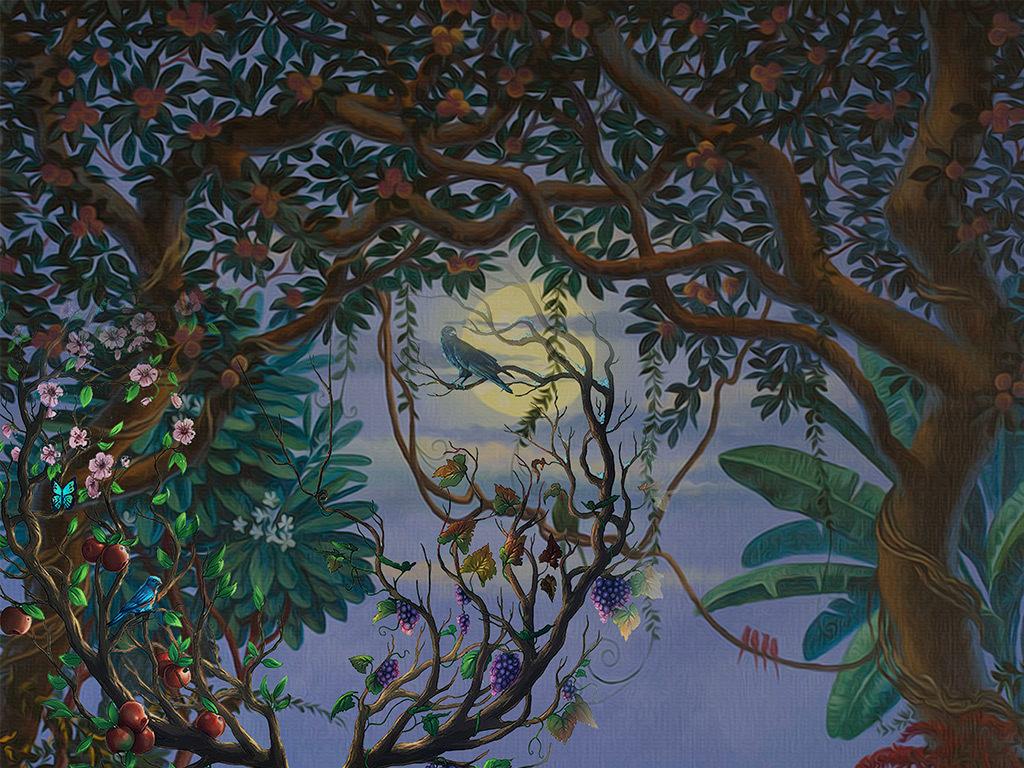 手绘墙壁室内设计室内效果图室内装饰室内装修室内