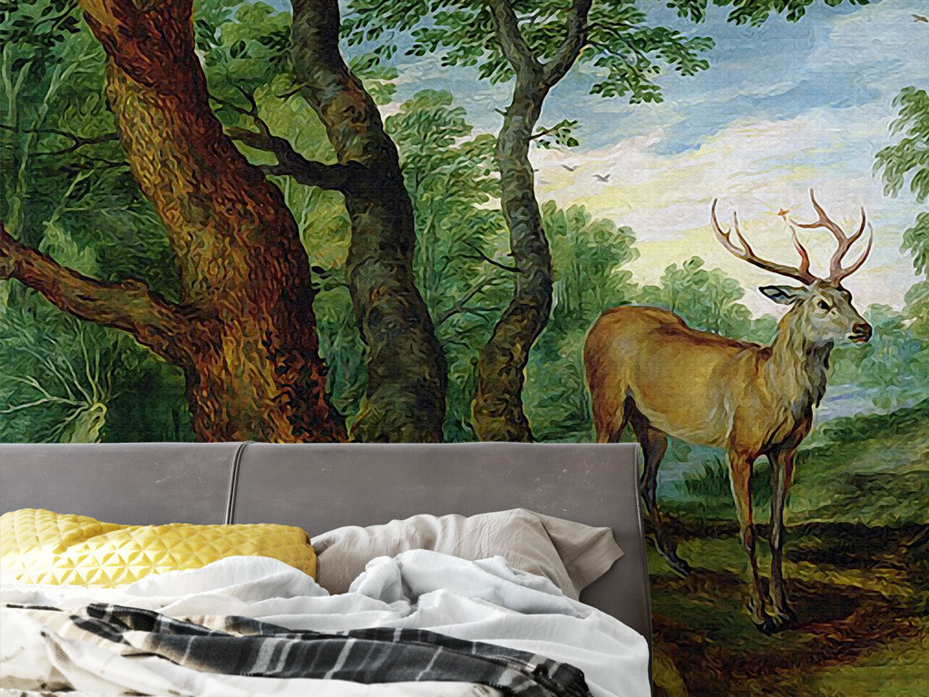 森之麋鹿手机壁纸