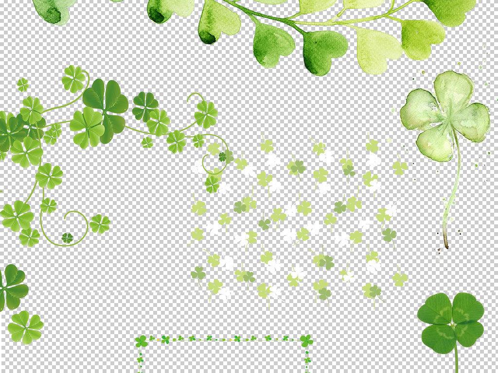 卡通四叶草植物图片海报素材