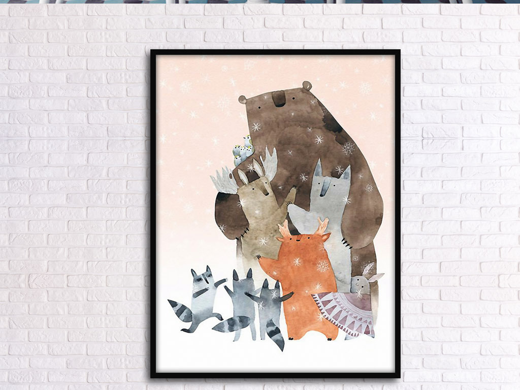 可爱动物可爱手绘动物森林卡通动物小动物们海底动物野生动物动物剪影