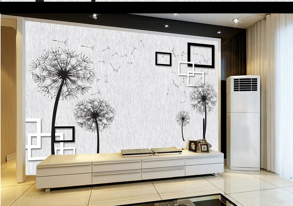 线条抽象电视背景3d背景蒲公英背景电视电视背景墙3d电视背景墙艺术玻