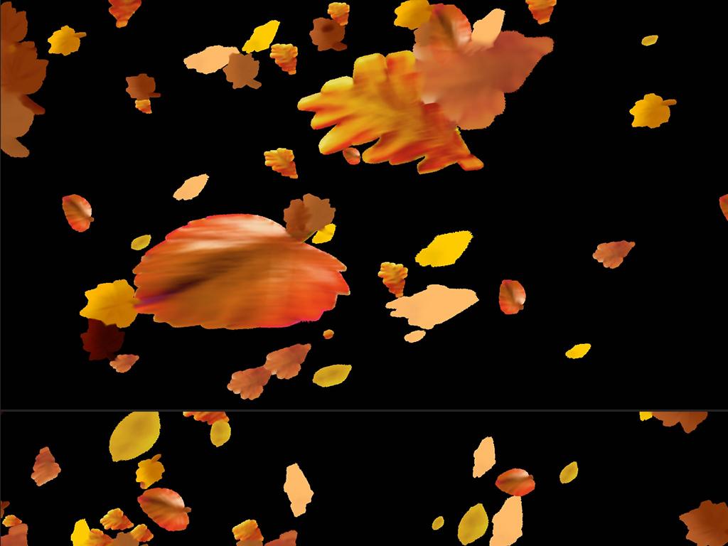 岁月如歌致青春枫叶树叶飘落背景视频