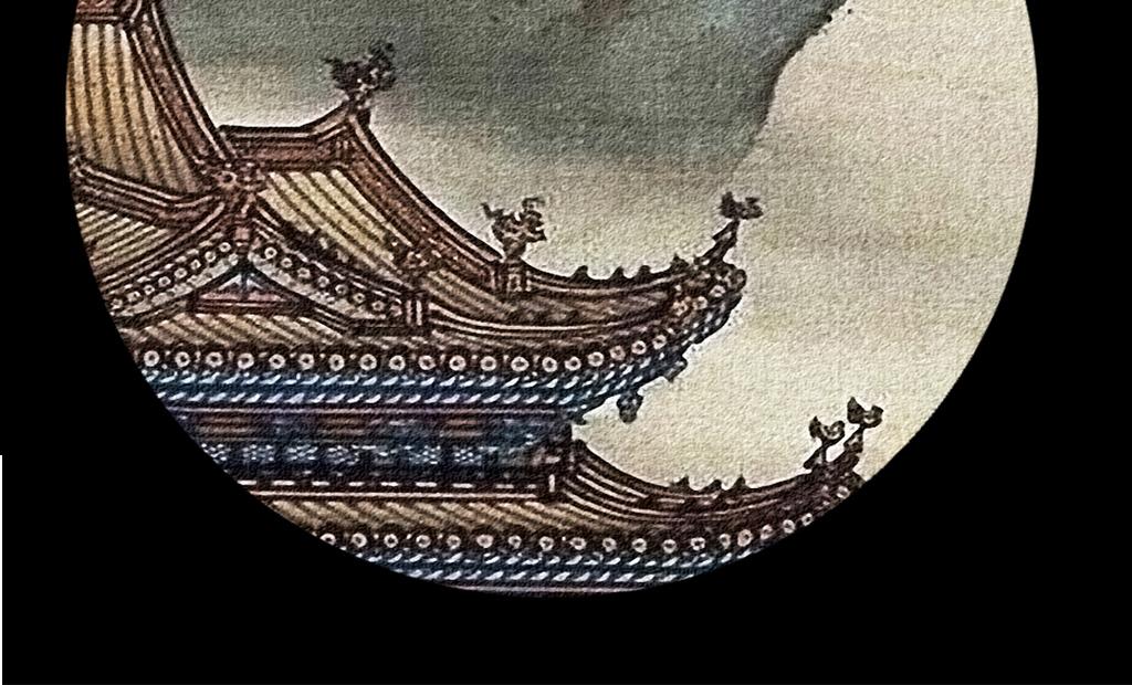 古代宫廷手绘工笔传统国画风景