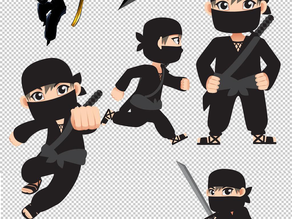 卡通忍者职业人物图片海报素材