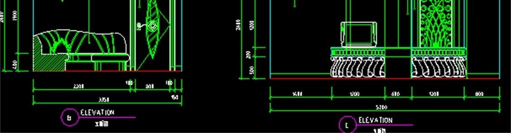 ktv包间cad设计图