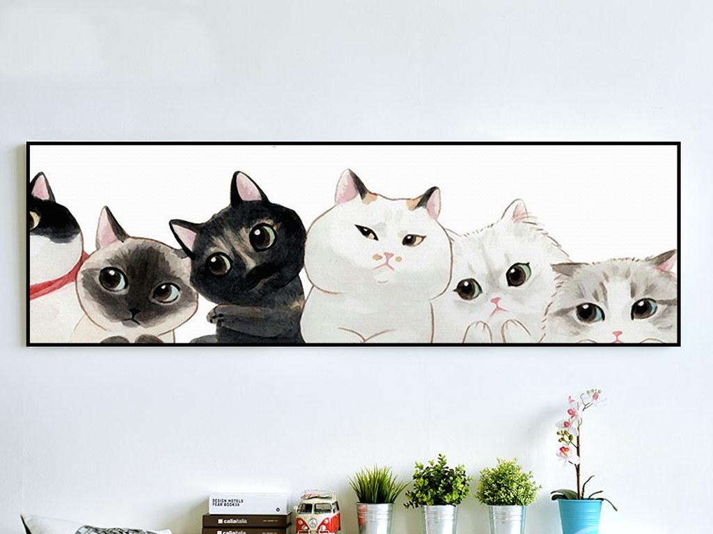 手绘小猫可爱猫咪                                  卡通小猫简约
