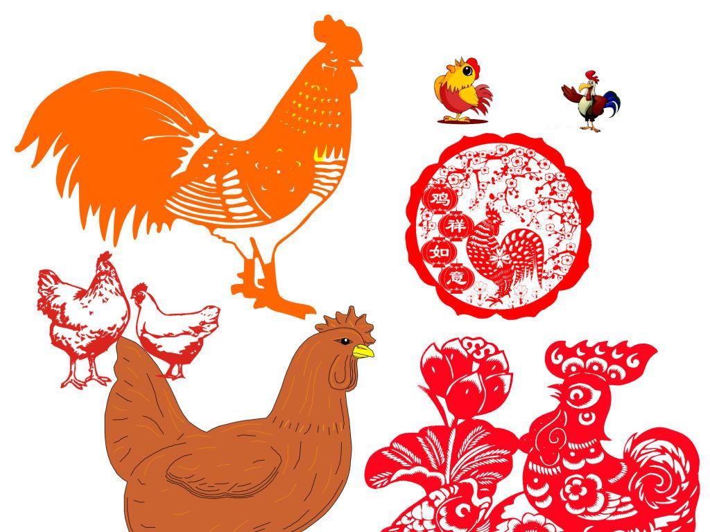 设计设计素材卡通鸡