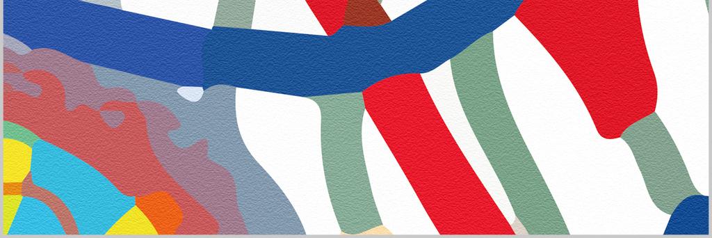 现代简约手绘涂鸦线条插画卡通背景墙装饰画