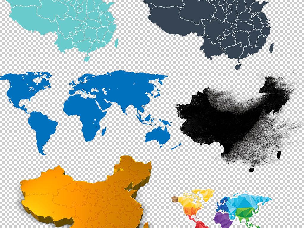 png)卡通地图                                  世界世界地图中国地