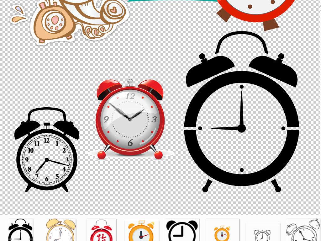 动物钟表简笔画图片