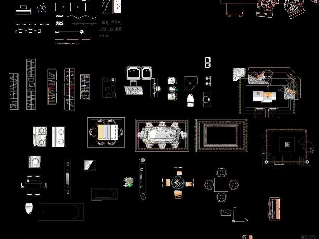 图库cad平面图cad建筑cad设计素材dwgcad欧式建筑