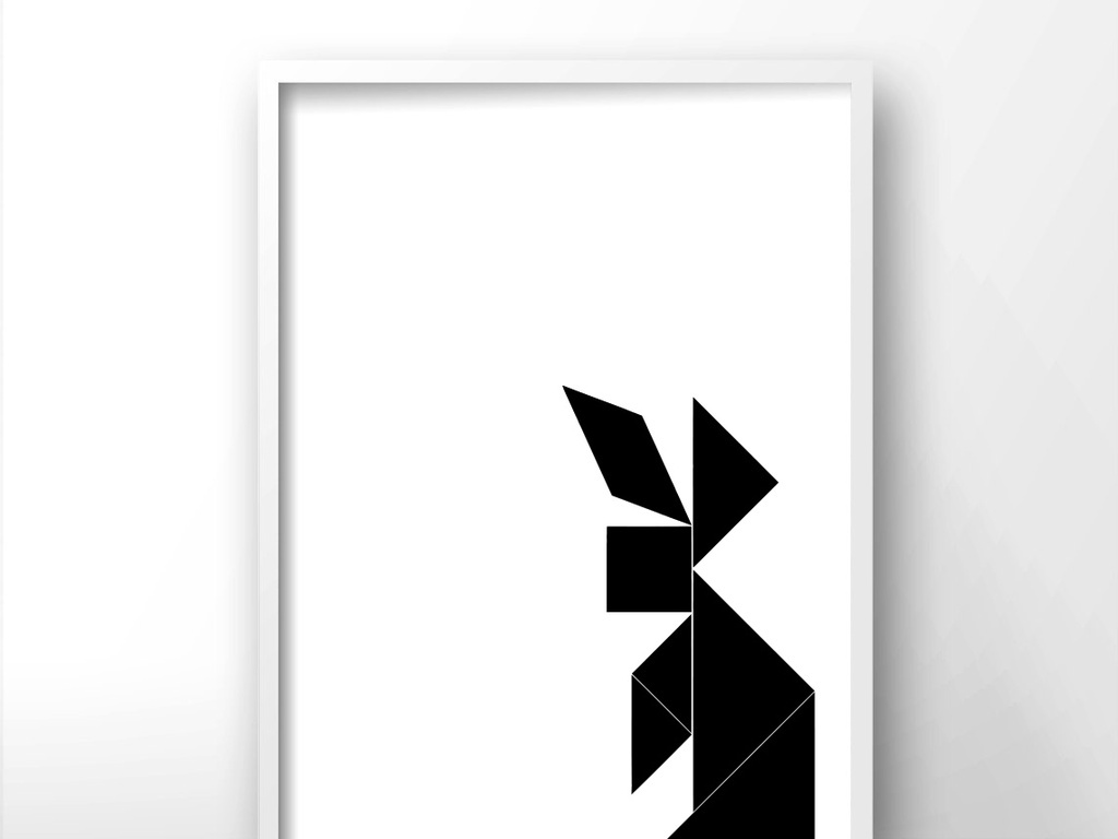 北欧风格极简黑白装饰画
