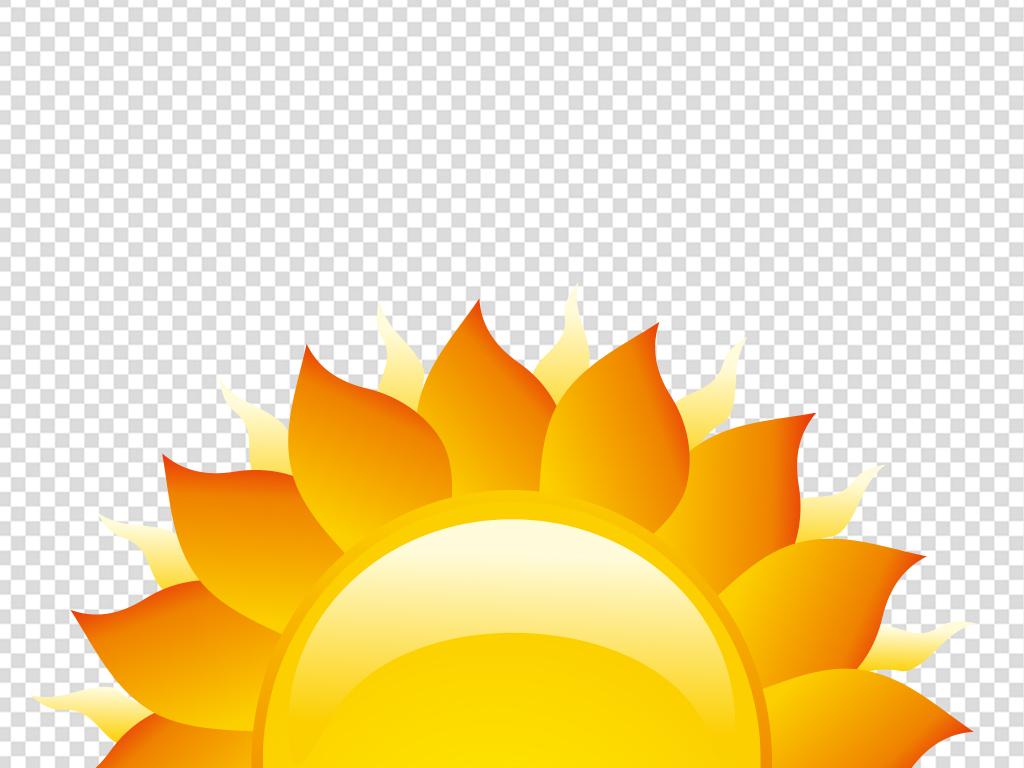 卡通手绘太阳花