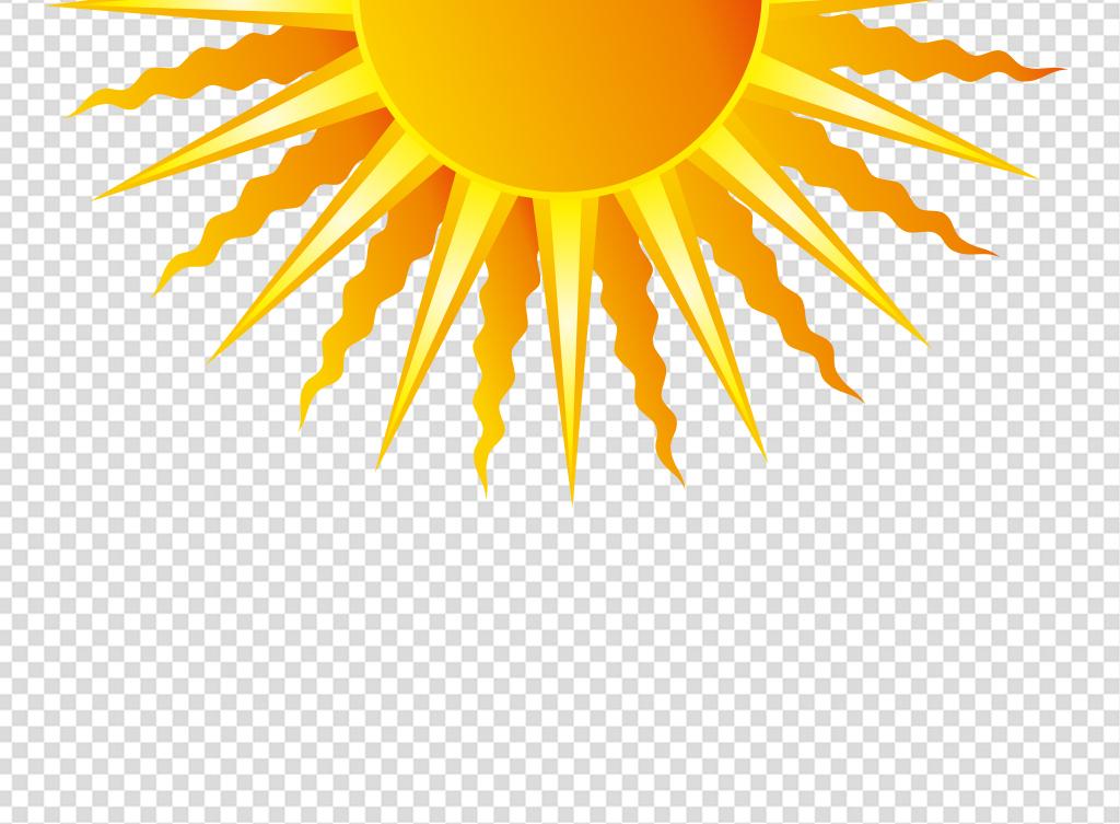 卡通手绘光芒太阳