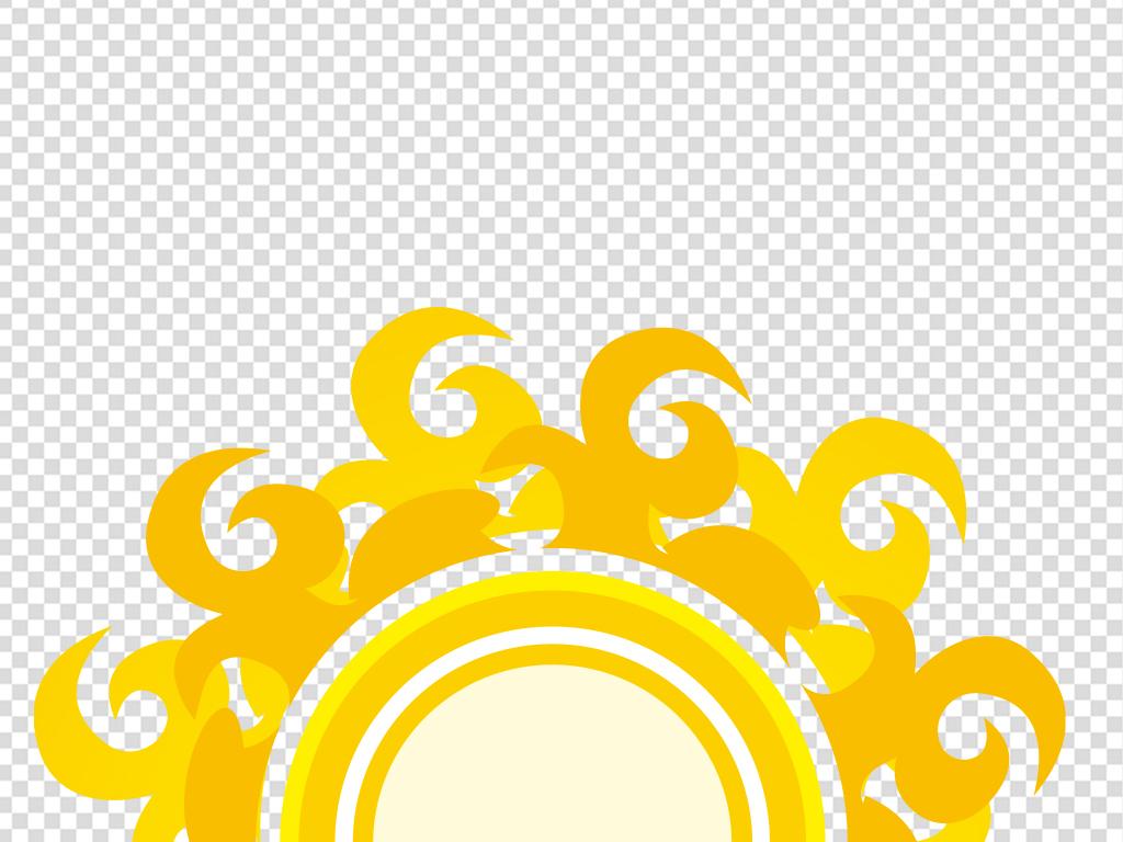 卡通太阳简笔画 戴墨镜的太阳
