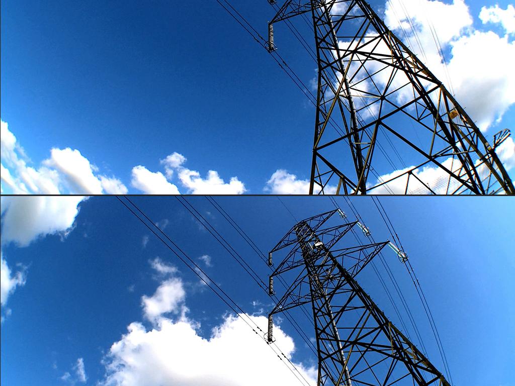 电网电塔电线电力输送宣传片视频素材