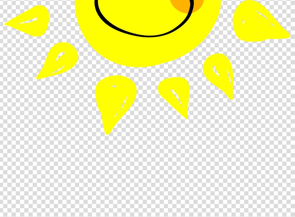 卡通小太阳卡通微笑