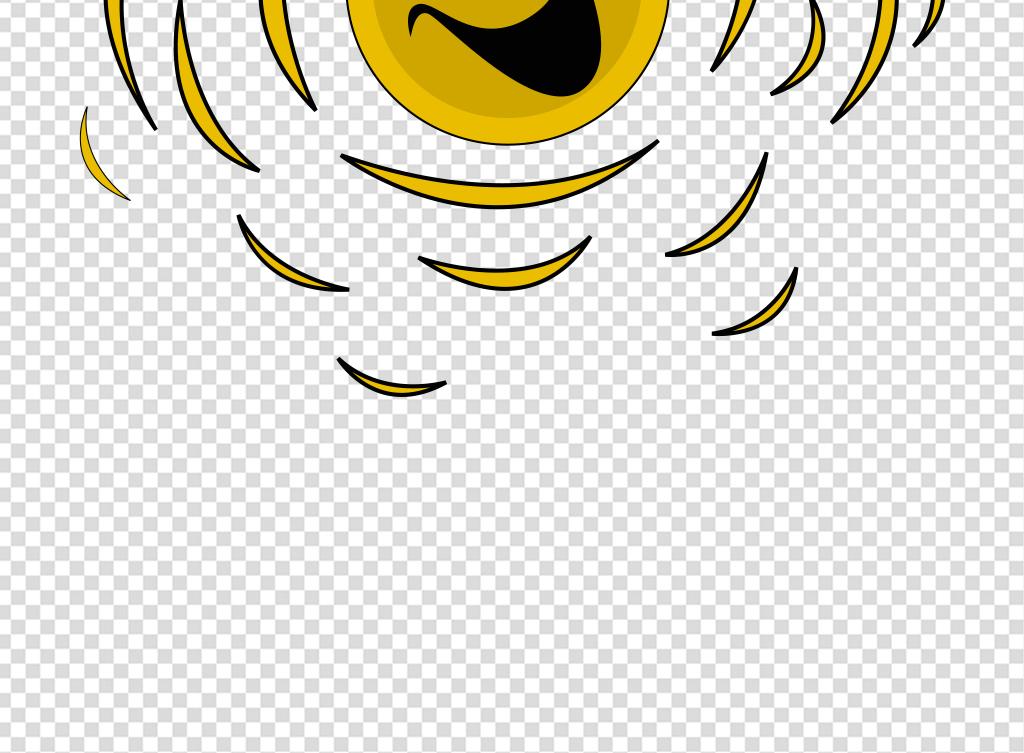 供精品流行卡通简笔画开心微笑太阳素材下载,作品模板源文件可