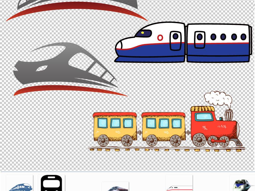 卡通火车动车图片海报素材