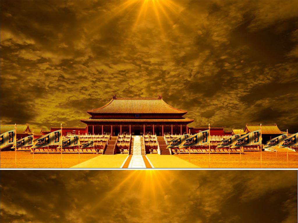 大气皇宫宫殿舞台背景视频