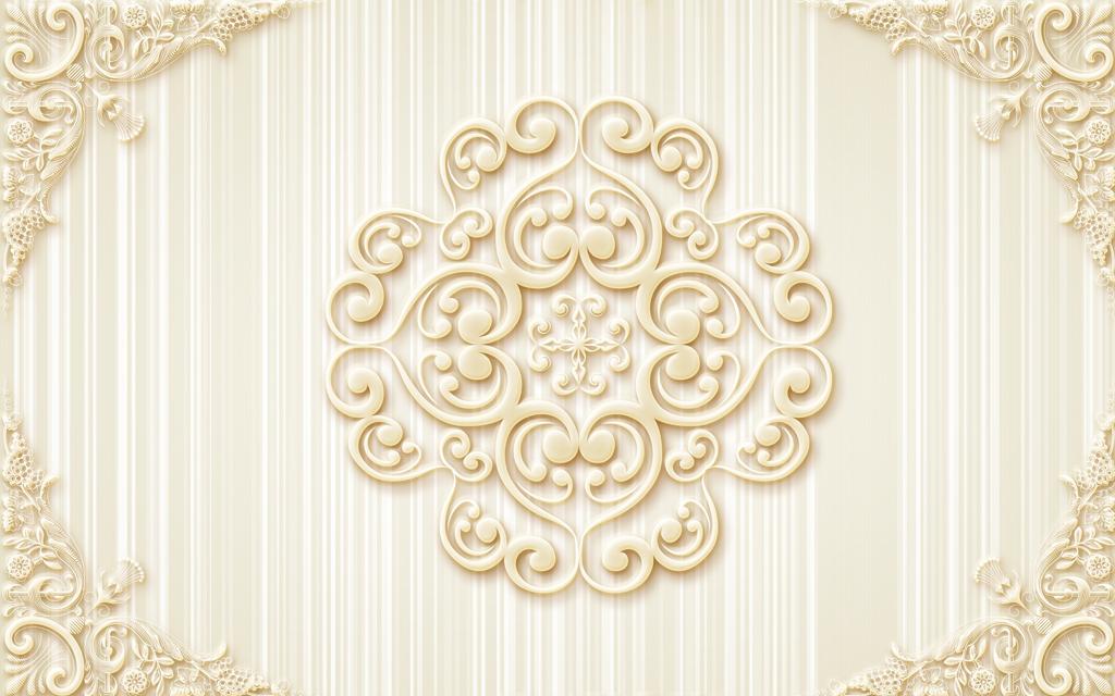 装饰画无框画壁纸墙纸壁画欧式花纹浮雕花纹竖条图片