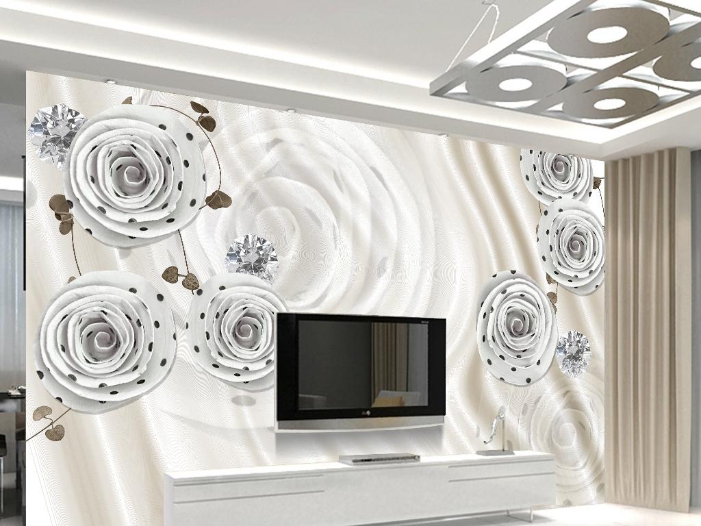 奢华珠宝花卉电视背景墙(图片编号:16069021)
