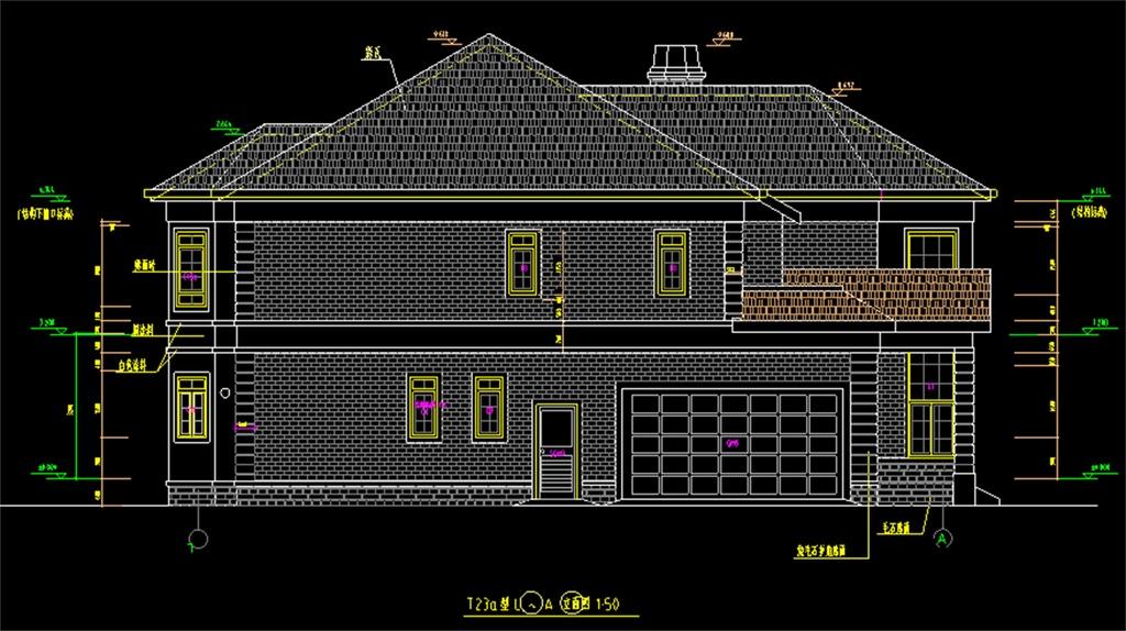 钢结构别墅cad建筑图平面设计图下载(图片0.44mb)_cad