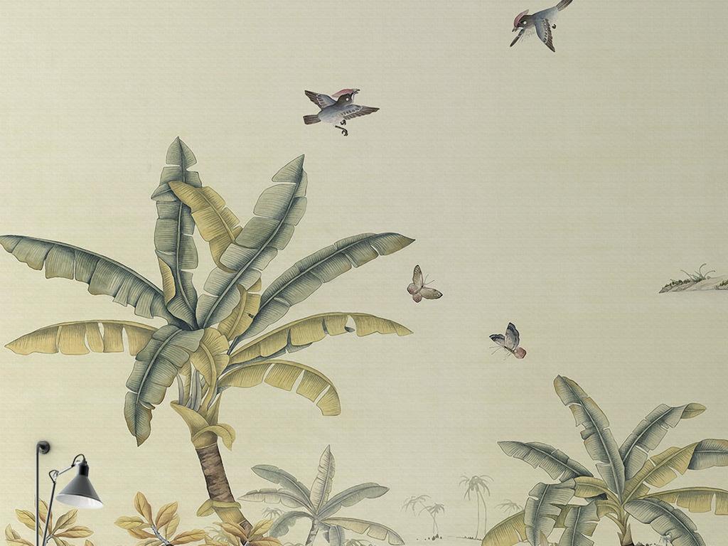 背景墙|装饰画 电视背景墙 现代简约电视背景墙 > 中世纪手绘热带雨林