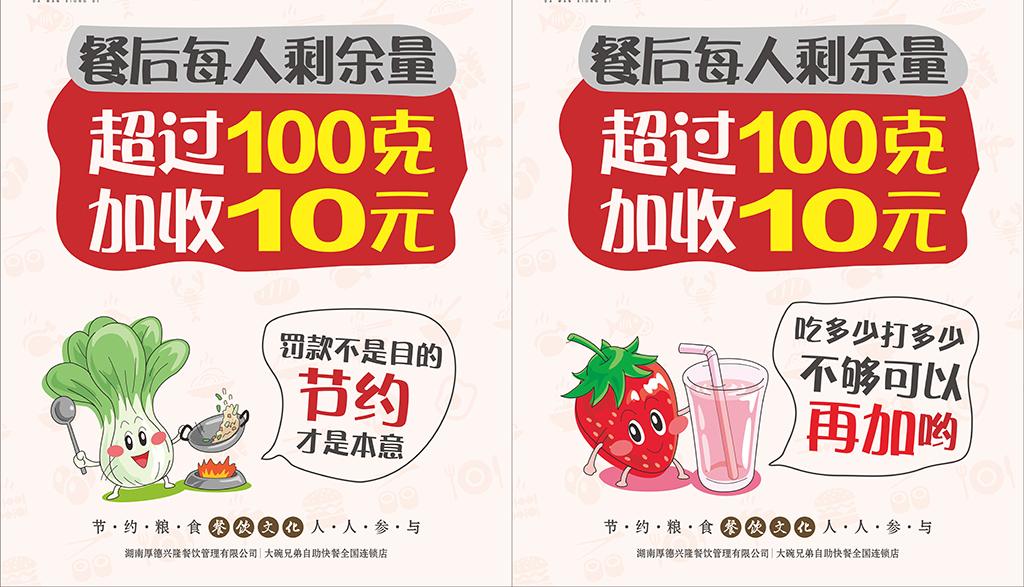 卡通营养餐饮文化海报