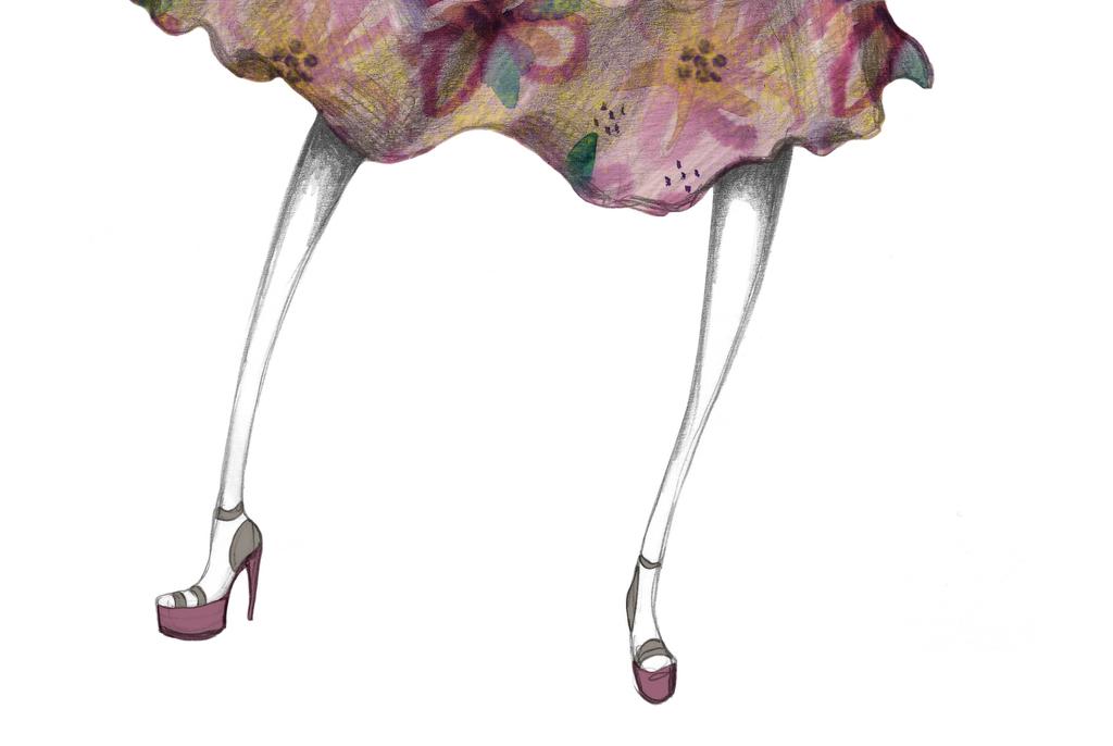 素材创意手绘手稿高清图时装设计模板设计时装时装鞋设计时装版式设计