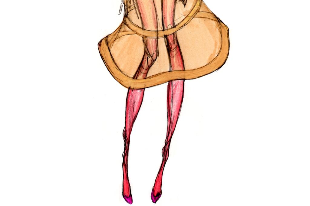 人物印刷时装画时尚创意女装效果图