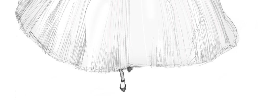 女装晚礼服婚纱手绘稿高清印花装饰画素材图