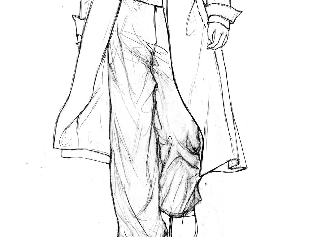 男装设计手稿服装线稿高清素材