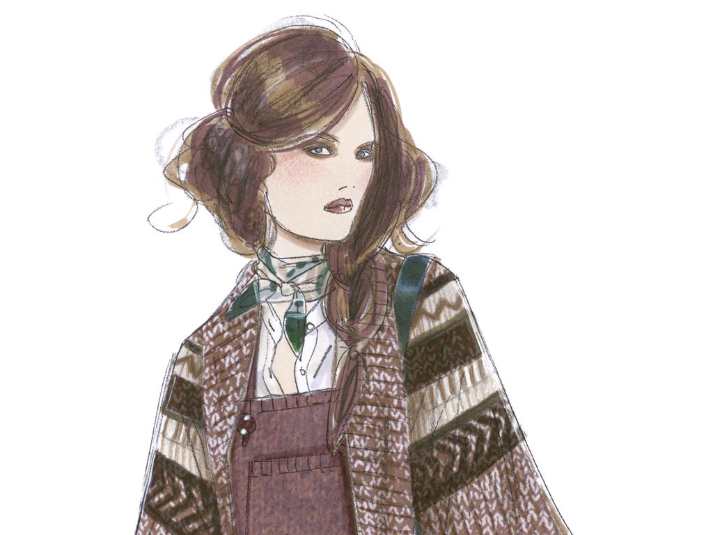 时装画女装效果手稿时装绘画高清图高清原图素材装饰