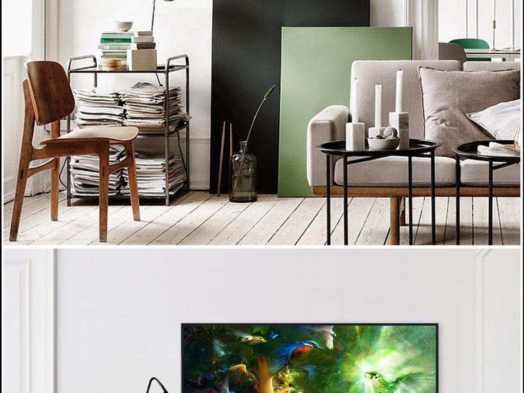 客厅黑白手绘图片