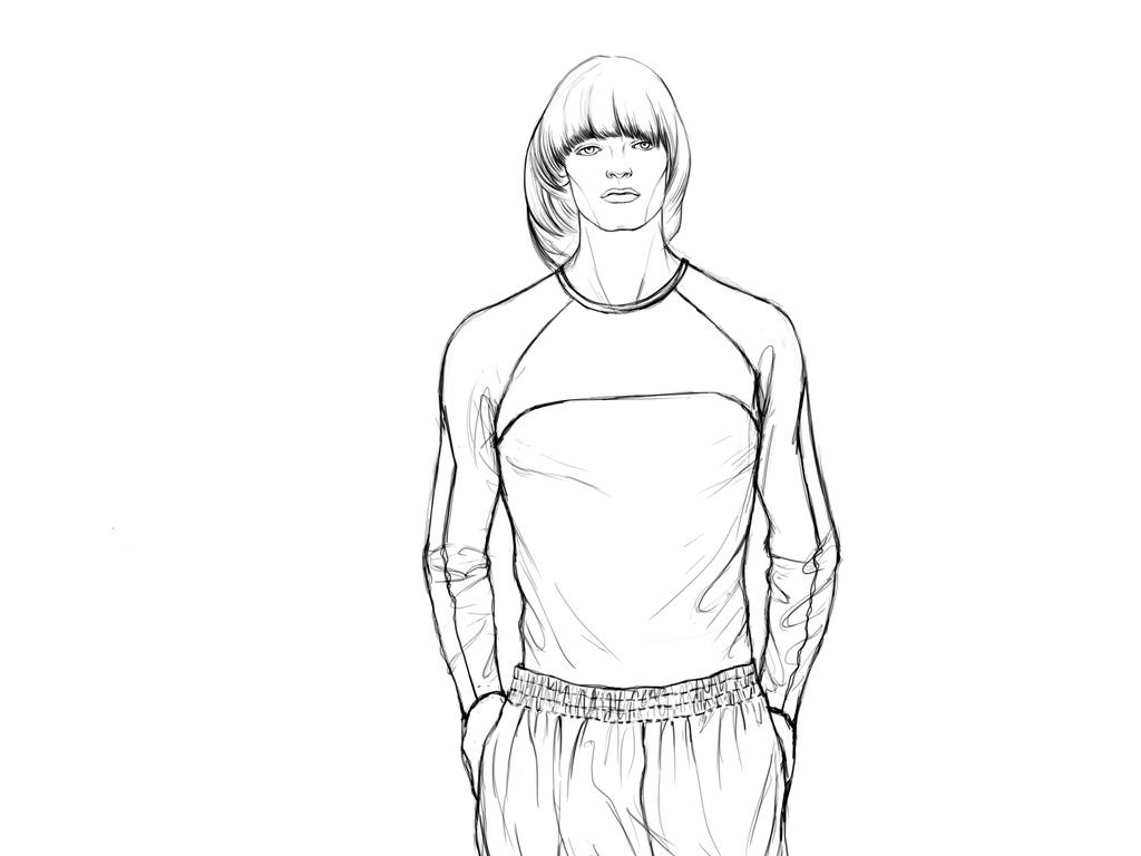 男装手绘图运动服装设计运动装设计图大牌设计手稿
