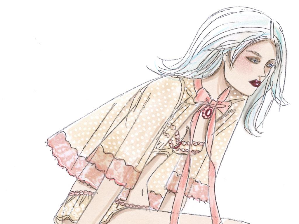 女装效果图时装画高清素材服装效果图设计稿