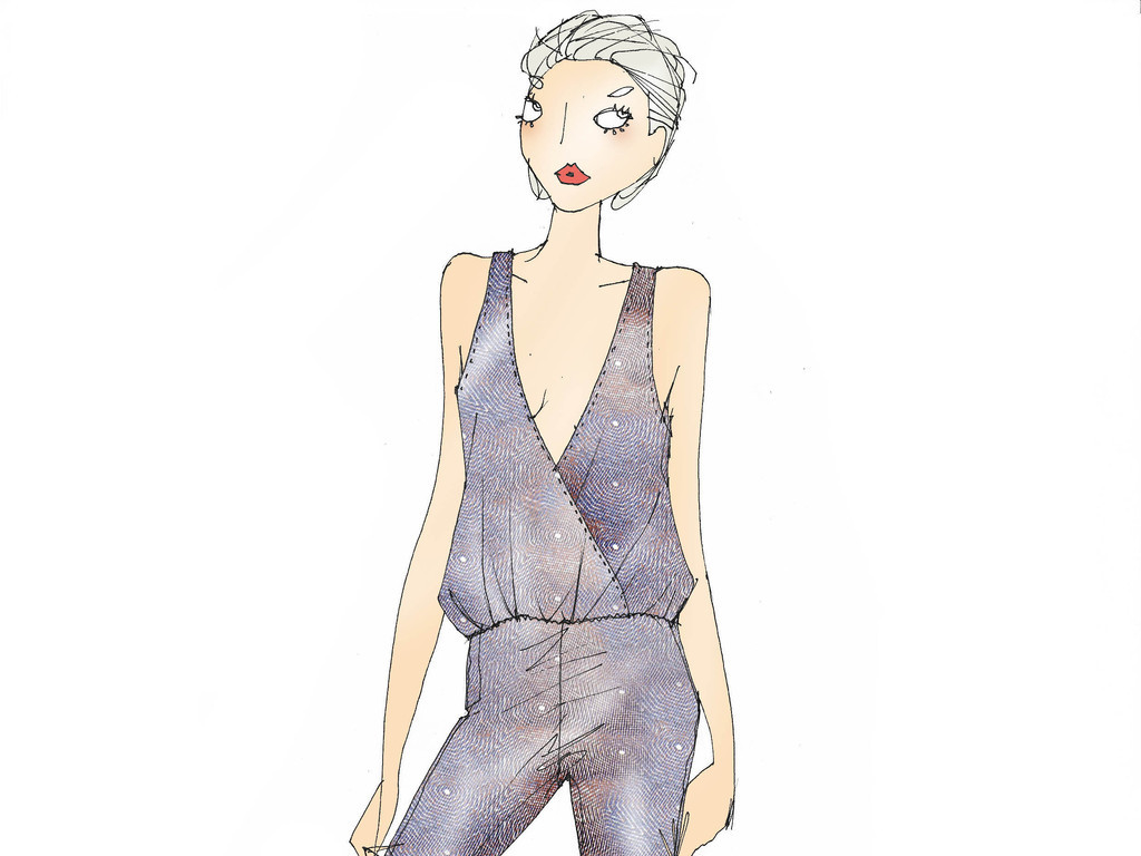 时装画女装时尚插画女装成衣设计手稿女装高清手稿