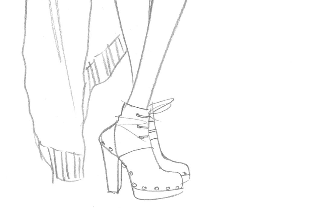 使用软件为服装线稿女装设计手稿女装效果图